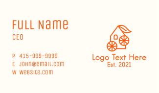 Orange Juice House Business Card