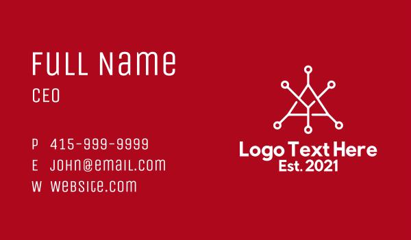 letter y - Network Letter Y Business card horizontal design
