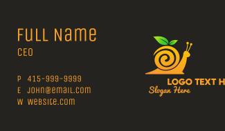 Snail Orange Juice Business Card