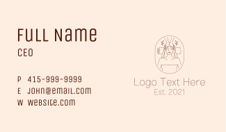 Woman  Massage Parlor  Business Card