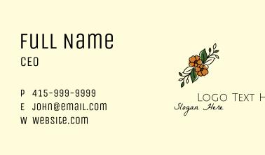 Flower Arranger Line Art Business Card