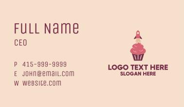 Rocket Cupcake Business Card