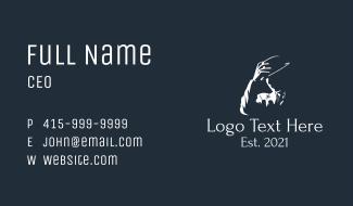 Fedora Hat Gentleman Business Card