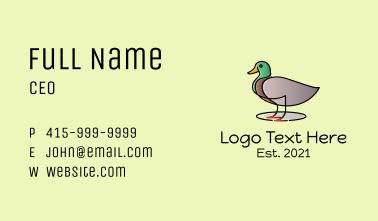 Mallard Duck Business Card