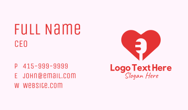 Microphone Heart Lover Business Card
