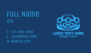Blue Car Mechanic  Business Card