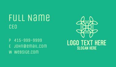 Organic Flower Pattern Business Card