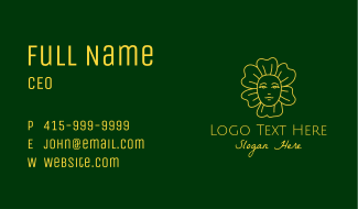 Yellow Flower Lady Business Card