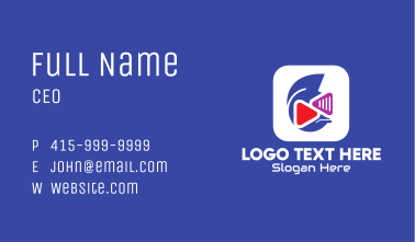 Media Player Application Business Card