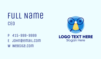 Badminton Badge  Business Card