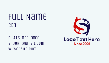 Letter S Office Worker Business Card