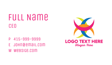 Colorful Crescent  Business Card