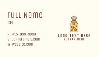 Food Jar Chef Hat Business Card
