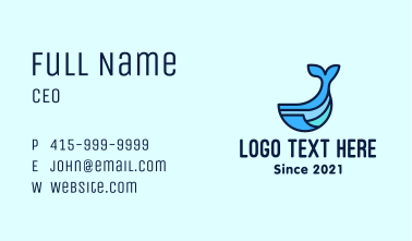 Whale Animal Mascot  Business Card
