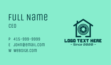 Security Camera House Business Card