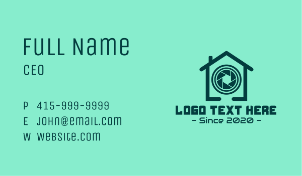 zoom - Security Camera House Business card horizontal design