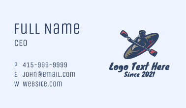 Water Rafting Sport  Business Card