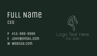 Stallion Knight Line Art Business Card