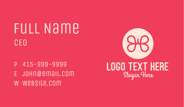 Pink Butterfly Lung Business Card
