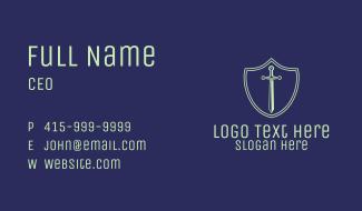 Green Tech Sword Business Card