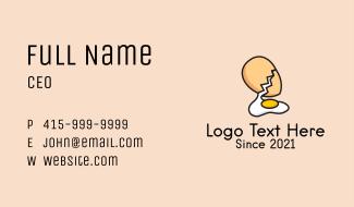 Organic Egg Yolk  Business Card