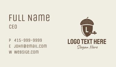 Acorn Keg Letter Business Card