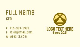 Crossed Screwdriver Badge Business Card