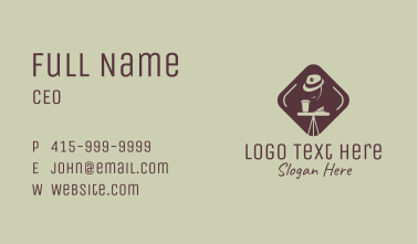 Coffee Shop Hat  Business Card