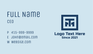 Blue T & M Company  Business Card