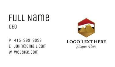 Egypt Flag Pyramids  Business Card