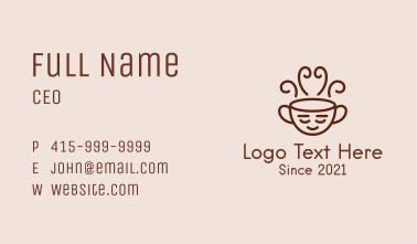 Relaxing Coffee Drink  Business Card