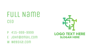 Green Virus Circuitry Business Card