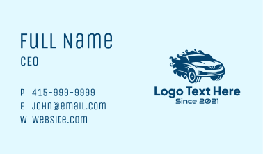 Auto Car Detailing Business Card