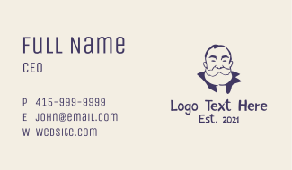 Old Bearded Man  Business Card