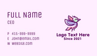 Purple Finch Bird  Business Card