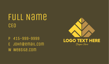 Pyramid Structure Letter M Business Card
