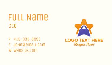 Star Shopping Bag Business Card