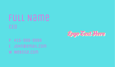 Cute Candy Wordmark Business Card