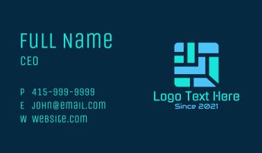 Tech Square Maze Business Card