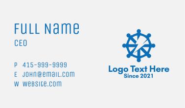Ship Helm Thunderbolt  Business Card