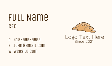 French Bread Bakeshop Business Card