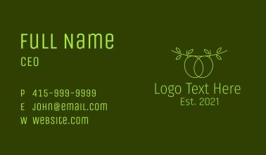 Minimalist Olive Branch Business Card