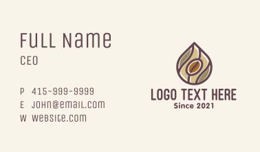 Coffee Bean Drip Business Card