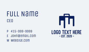 Blue Briefcase Luggage Business Card