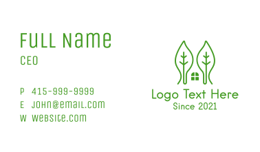 Green Leaf House Business Card