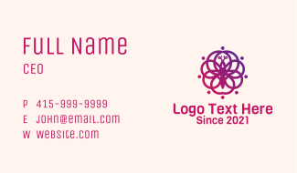Butterfly Floral Decoration Business Card