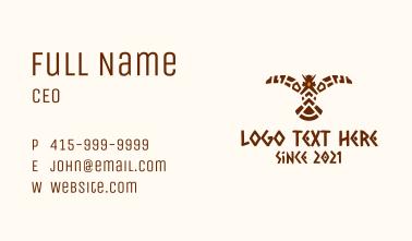 Tribal Eagle Bird Business Card