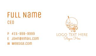 Orange Garden Rake Business Card