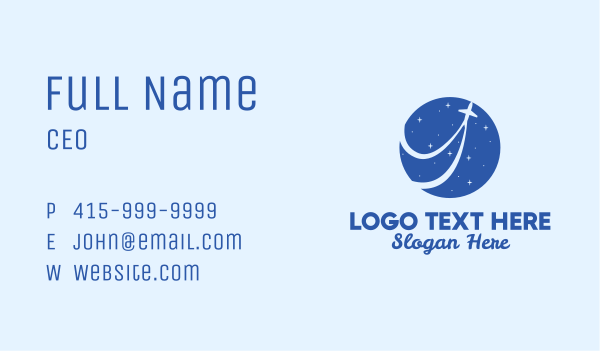 airlines - Star Travel Airlines  Business card horizontal design