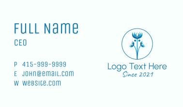 Blue Wild Flower Business Card